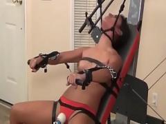 Play sexual video category amateur (802 sec). Beautiful girl self bondage choking.