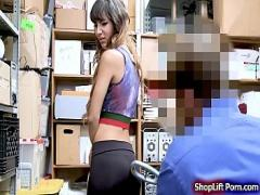 18+ video list category teen (430 sec). Latina shoplifter rammed by LP officer.