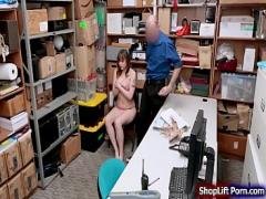 Super sensual video category sexy (430 sec). Busty shoplifter sucks LP officers cock.