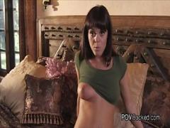 Nice video category blowjob (426 sec). POV fucking beautiful busty brunette girlfriend.