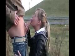 Embed romantic video category amateur (335 sec). Cute gf in roadside public deepthroat action.