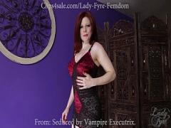 Genial romantic video category redhead (468 sec). Vampire Succubus Executrix Sampler Part1 by Lady Fyre.