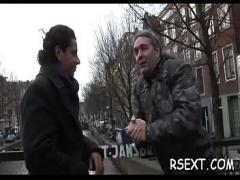 Adult movie category blowjob (480 sec). Concupiscent dude gets out and explores amsterdam redlight district.