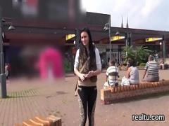 18+ video category virtual_reality (300 sec). Stellar czech girl is seduced in the shopping centre and drilled in pov.