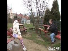 XXX romantic video category teen (307 sec). Swingeing Cathy fucks like an expert.